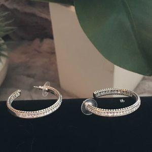 Brighton rhinestones hoop earrings, beautiful 💕